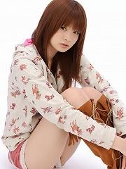 Yuki Daido cutie in her shorts with black knee socks