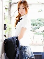 Jun Natsukawa is incredible in her cute school girl outfit