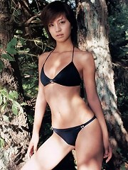 Gorgeous short haired asian babe shows off her sexy body