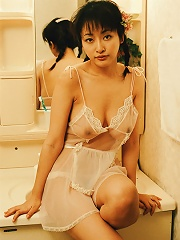 Sakura Shiratori naughty Asian girl getting naked for the camera