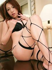 Kanako Tsuchiyo drives her man crazy in her black stockings
