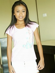18 year old Thai teen shows off her really petite body