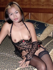 Thai slut fucked in lingerie