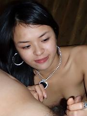 handjob pics with a cute hooky girl in sheer underwear