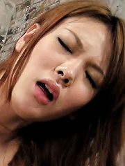 Rei has her pussy banged hard doggie-style and is left creamy