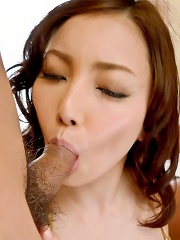 Nozomi Mashiro Asian gets dildo in cunt and penis in asshole