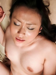 Hitomi Aizawa Asian with round jugs is strongly nailed in vagina