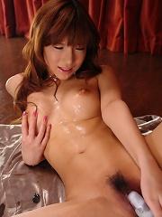 Gorgeous babe Serina Hayakawa alone toying her perfect pussy