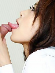 Maki Hojo Asian has jugs squeezed while she rides phallus deeply