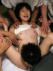 Japanese MiLF Aoba Itou bound and abused by horny dudes