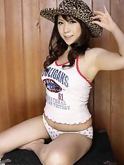 Horny Japanese avidol Momo Aizawa posing