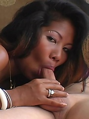 Sheree shows off her blowjob skills before getting a creampied pussy...