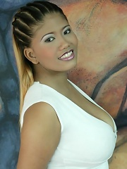 Big tit Thai shows her amazing Asian breasts